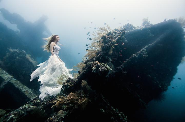 von wong fotos debajo del mar