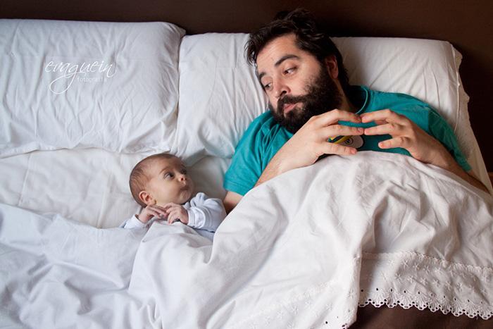Fotos de padres felices. De tal palo, tal astilla