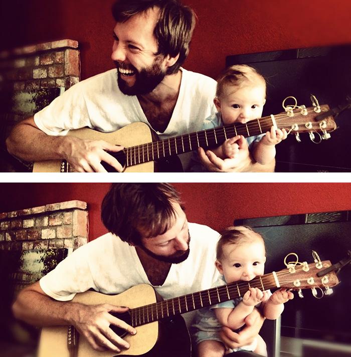 padres músicos inculcando su pasión a sus bebés