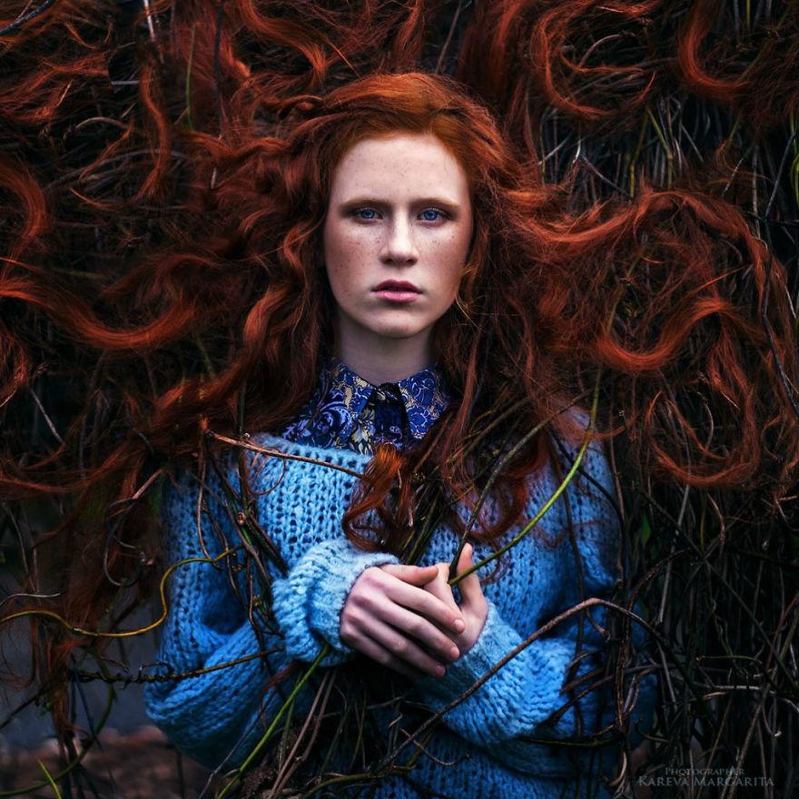 margarita kaleva foto pelo rojo