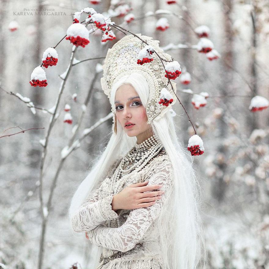 margarita kaleva foto princesa nieve