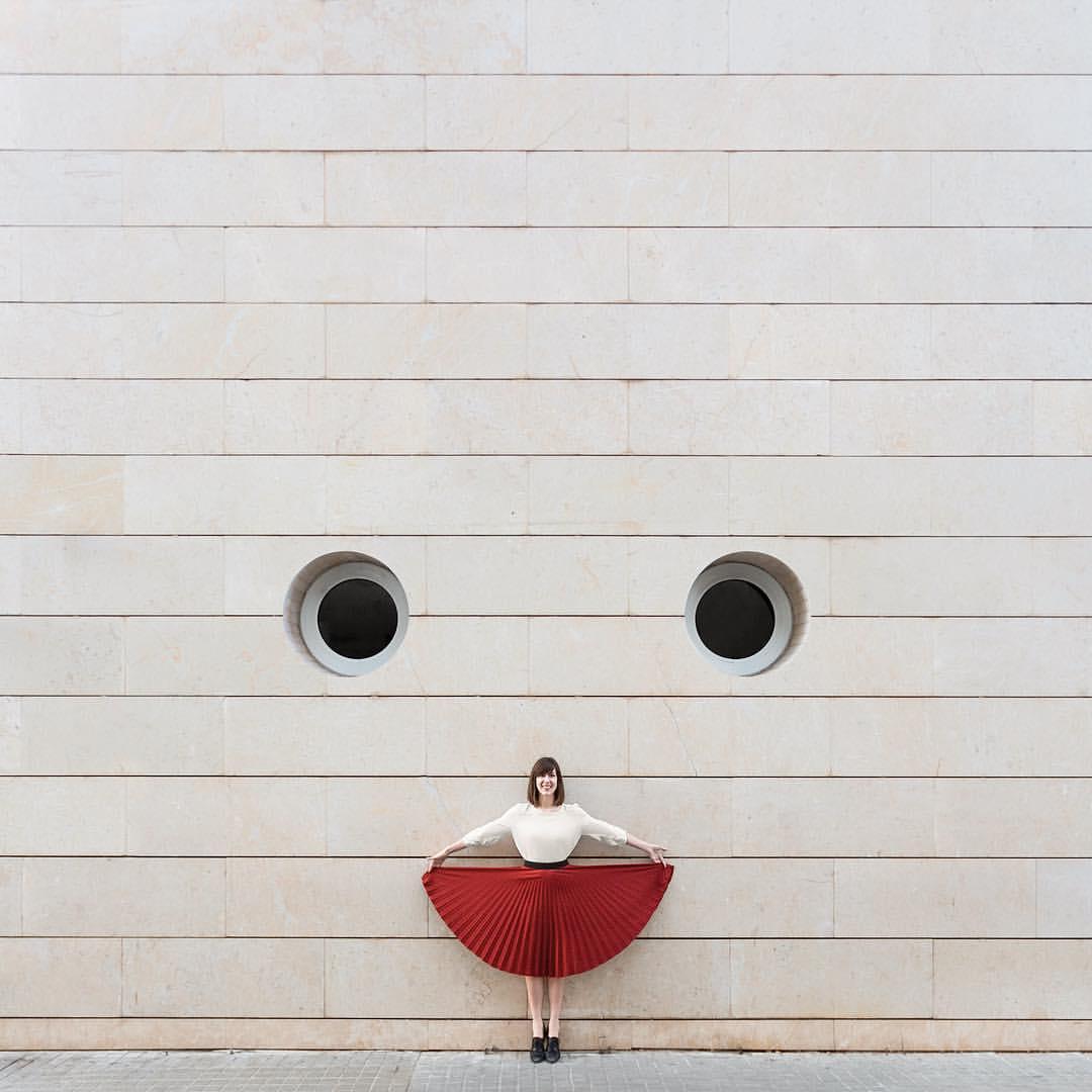 foto arquitectura y retrato sonrisa