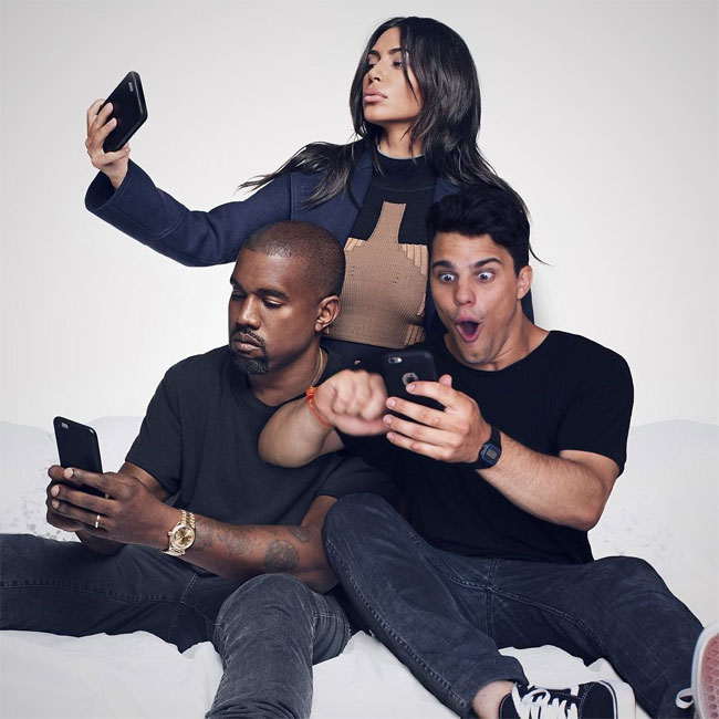 Average Rob y Kanye West y Kim KArdashian