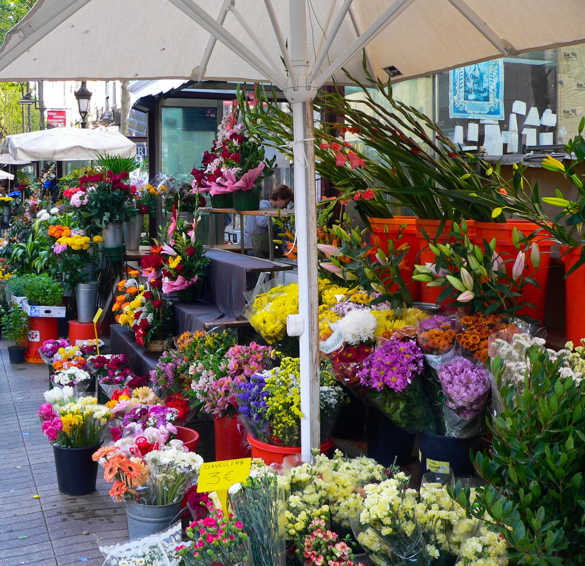 Rambla de las Flores en Barcelona