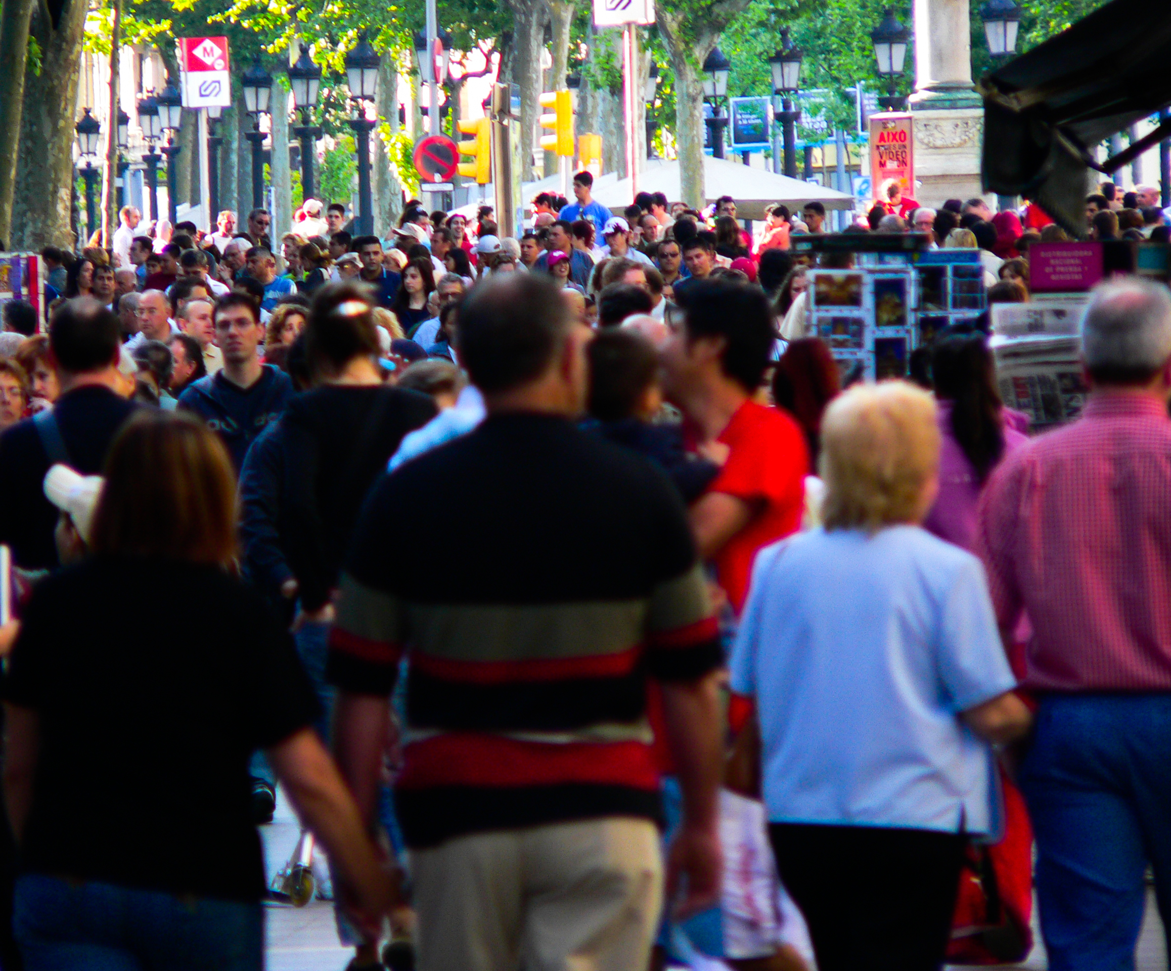 Paseo de las Ramblas en Barcelona
