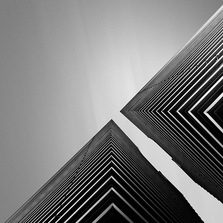 Fotografía abstracta en blanco y negro