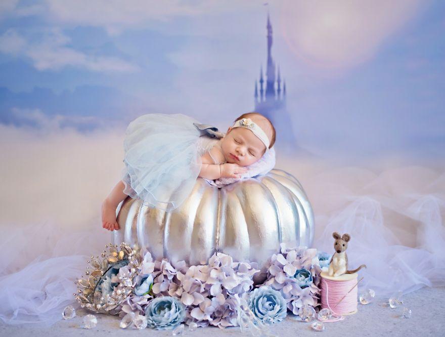 cenicienta album fotos recién nacido