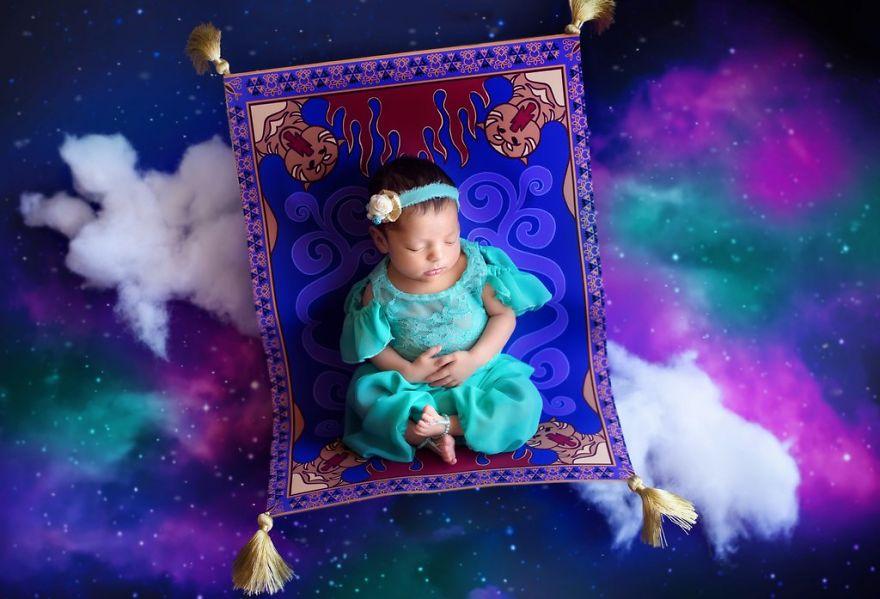 sesión de fotos bebé album digital jasmine