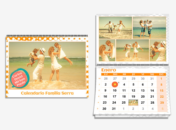 Calendario familia i-Moments personalizado