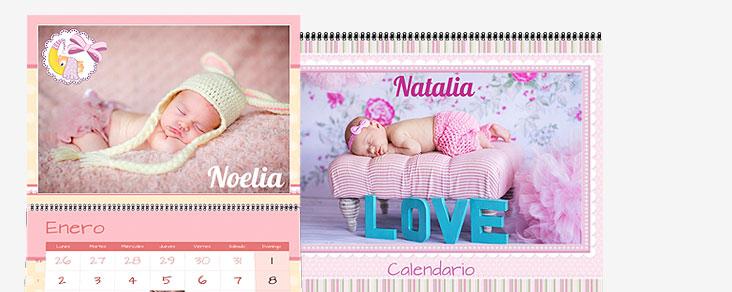 calendario personalizado bebé