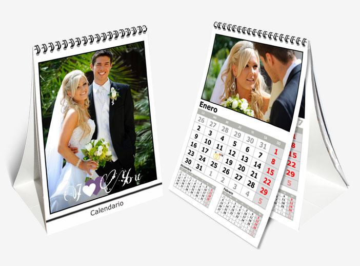 calendario personalizado aniversario de boda