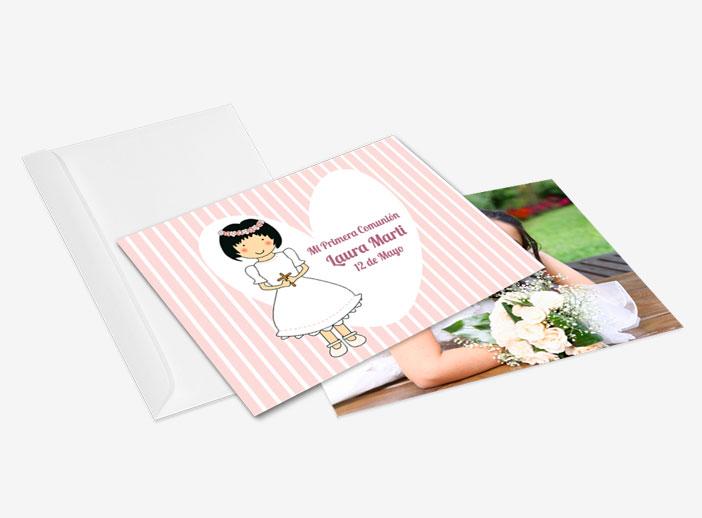 Tarjeta para regalar a los invitados de una primera comunión