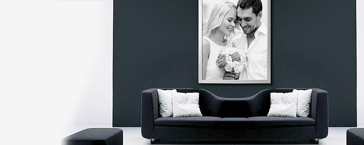 Foto cuadro con marco de aluminio