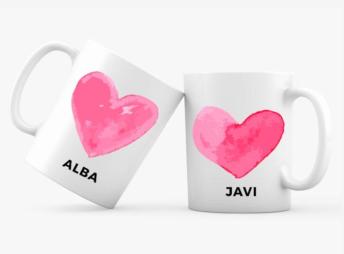 Tazas personalizadas para novios como regalo de boda
