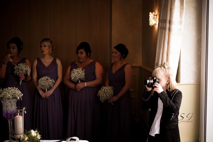 niña de 9 años fotógrafa de bodas