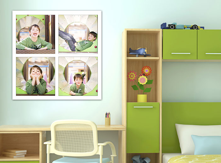 Decorar con fotos. Póster