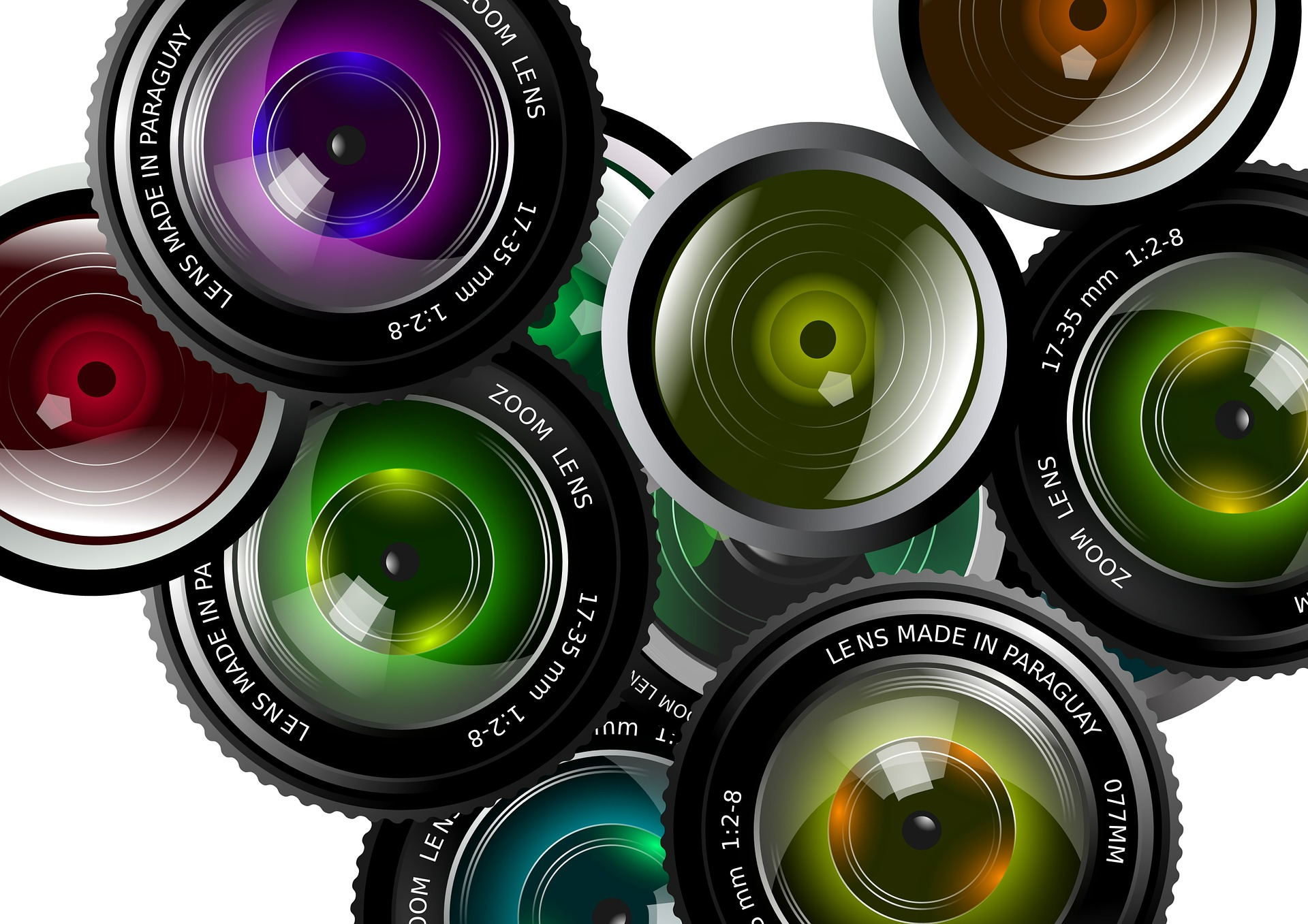 Lentes de cámaras fotográficas