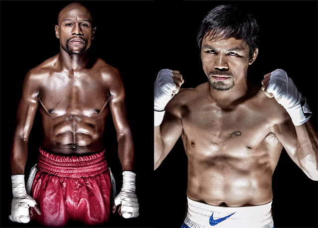 fotos mayweather y pacquiao