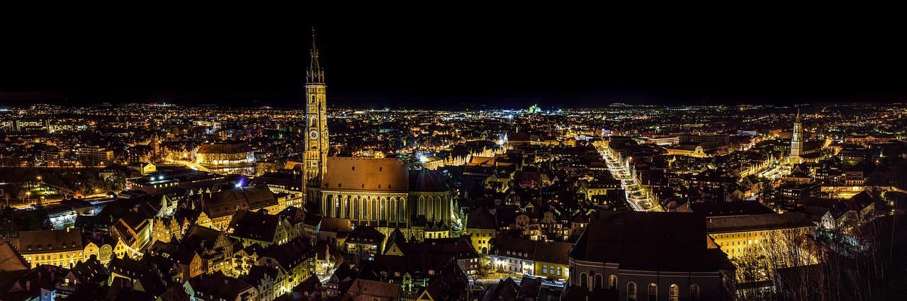 Fotografía nocturna. Panorámica ciudad