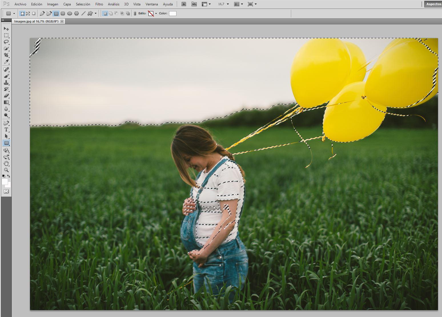 Trucos Photoshop. Selección de zonas brillantes