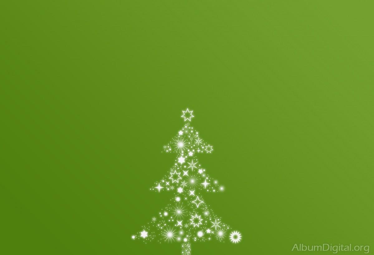 Árbol De Navidad De Estrellas Sobre Fondo Verde. Classic