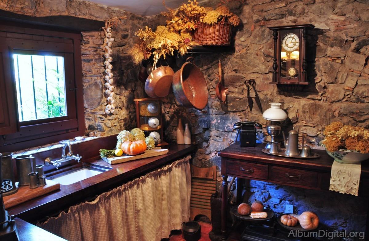 Cocina rustica - Cortinas cocina rustica ...