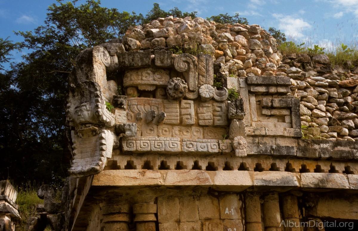Detalle arquitectura maya for Las construcciones de los mayas