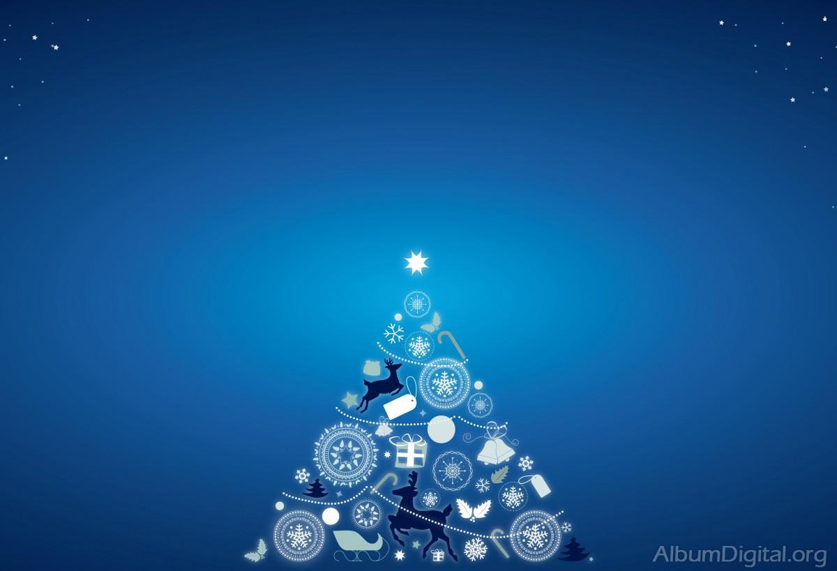 Imagem Vetorial Gratis Mapa Pinos Illustrator Titular: Fondo Azul Con árbol De Navidad. Formato Hofmann Classic