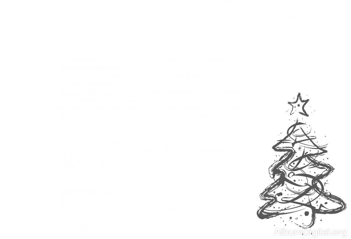 Fondo blanco con rbol de navidad en gris tama o classic - Arbol de navidad blanco ...