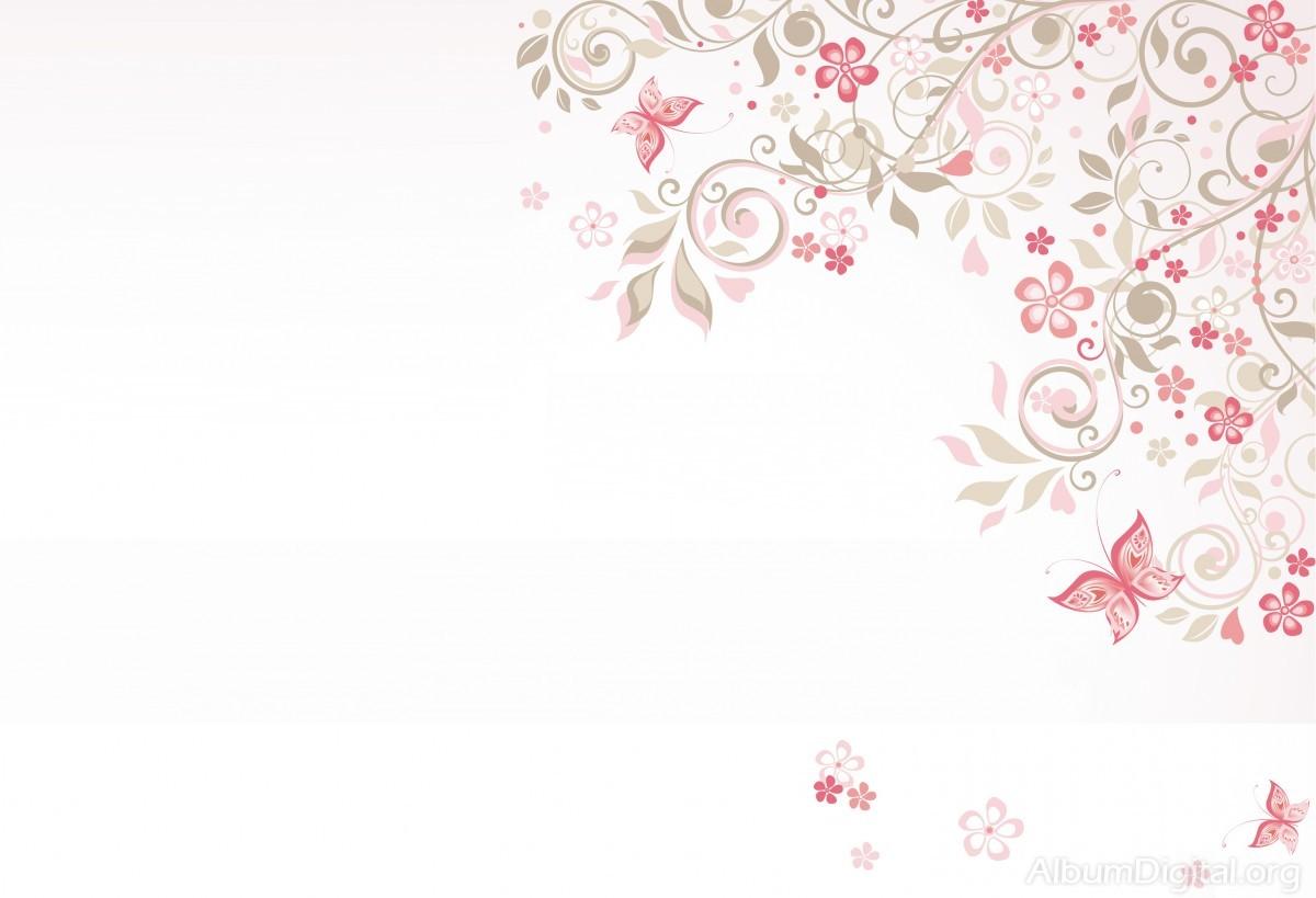 Fondo Comunión Para álbum Classic Flores Y Mariposas