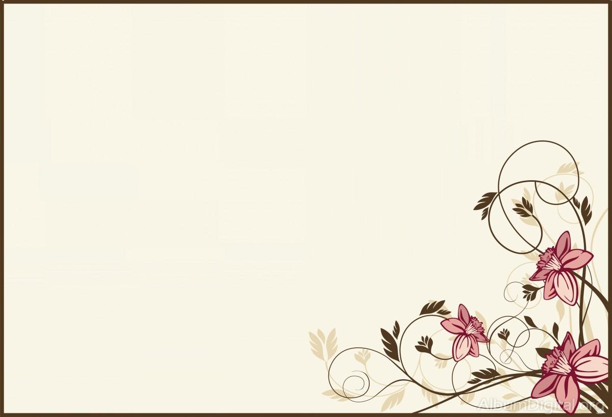 Fondo Comunión Para álbum Classic Plantas Con Flores