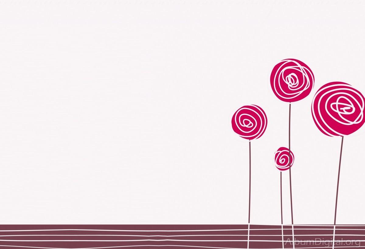 Fondo Comunión Para álbum Classic Rosas Dibujadas