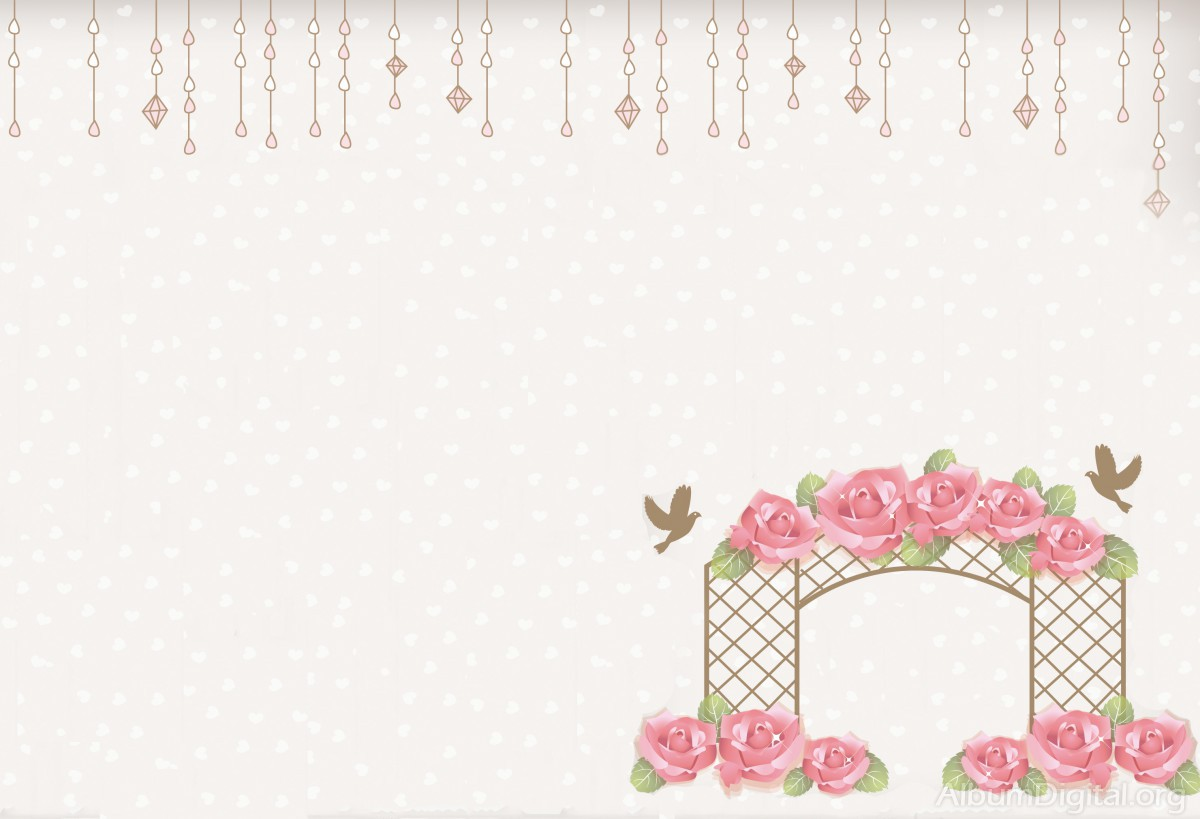 Flores Lilas Con Rosas Sobre Fondo: Fondo De Bodas Hofmann Palomas Y Flores