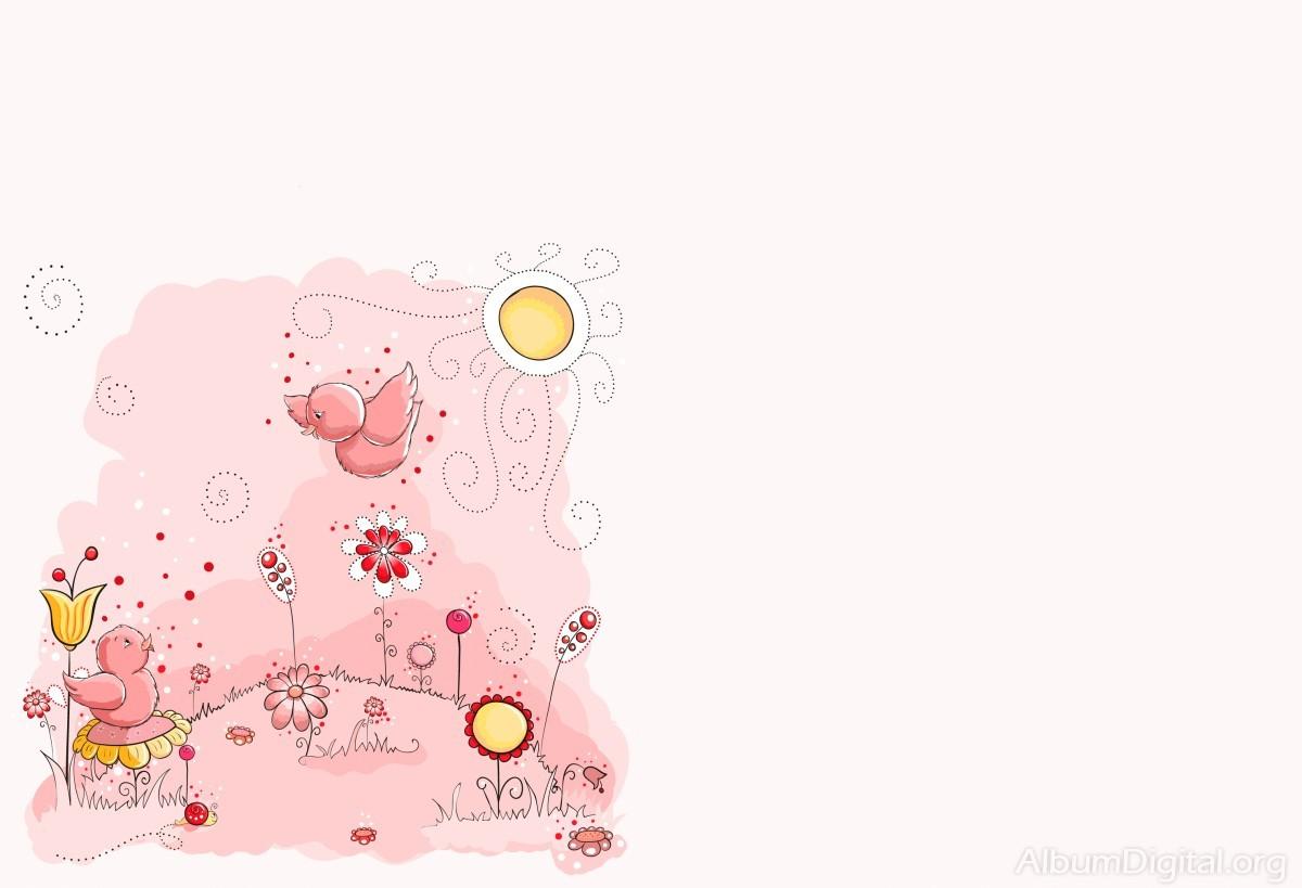 Fondo Primavera álbum Classic Flores Violetas: Fondo De Pajaritos Y Flores Pra Embarazadas. Formato Clássic