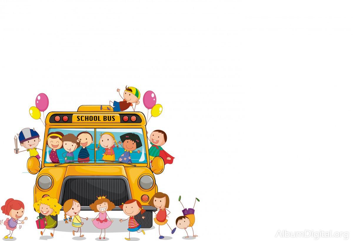 Fondo Escolar Hofmann Para Album Classic Niños En El Bus