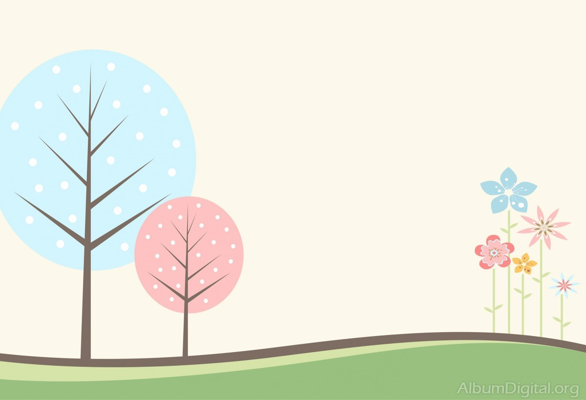 Fondo Primavera álbum Classic Flores Violetas: Fondo Infantil álbum Classic árboles Y Flores