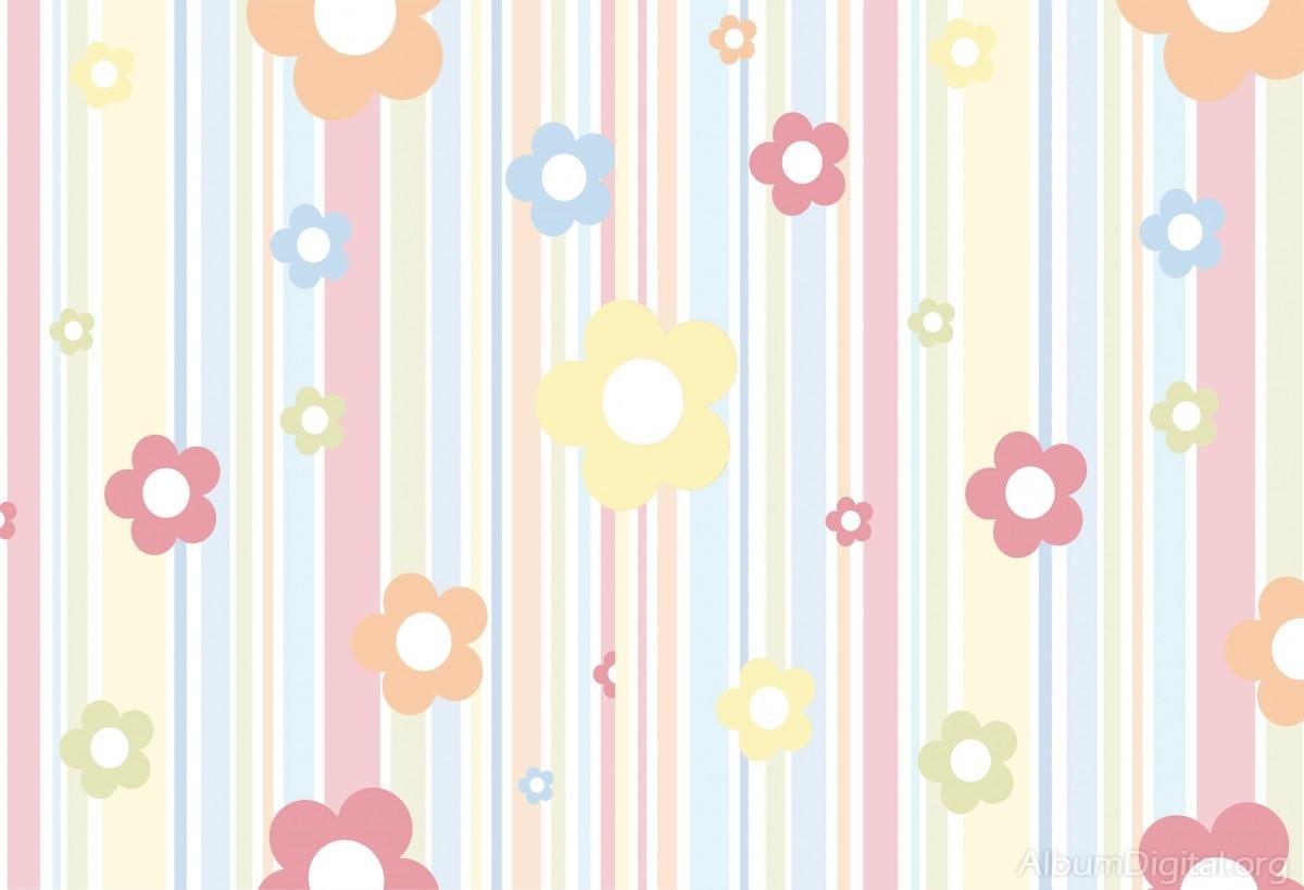 Fondo Primavera álbum Classic Flores Violetas: Fondo Infantil álbum Classic Flores