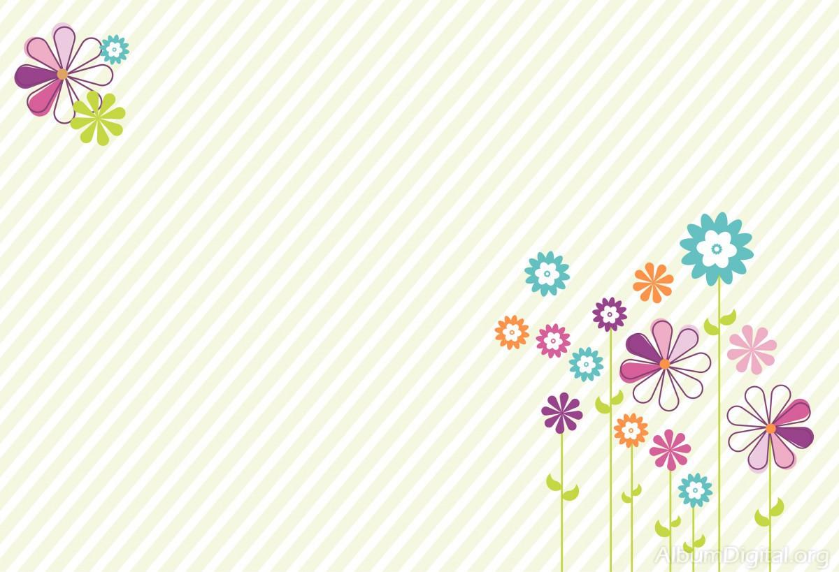 Fondo Primavera álbum Classic Flores Violetas: Fondo Primavera álbum Classic Rayas Y Flores