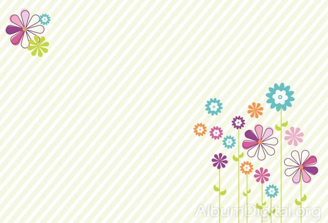 Foto Fondo primavera álbum classic rayas y flores