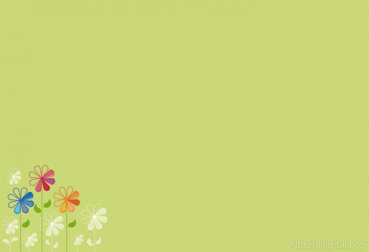 Fondo Primavera álbum Classic Flores Violetas: Fondo Primavera álbum Classic Verde Con Flores