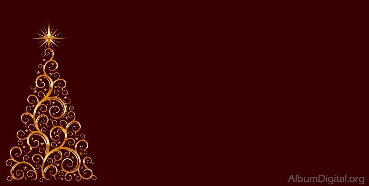 Fondo rojo con rbol de navidad dorado tama o maxi - Arbol de navidad dorado ...