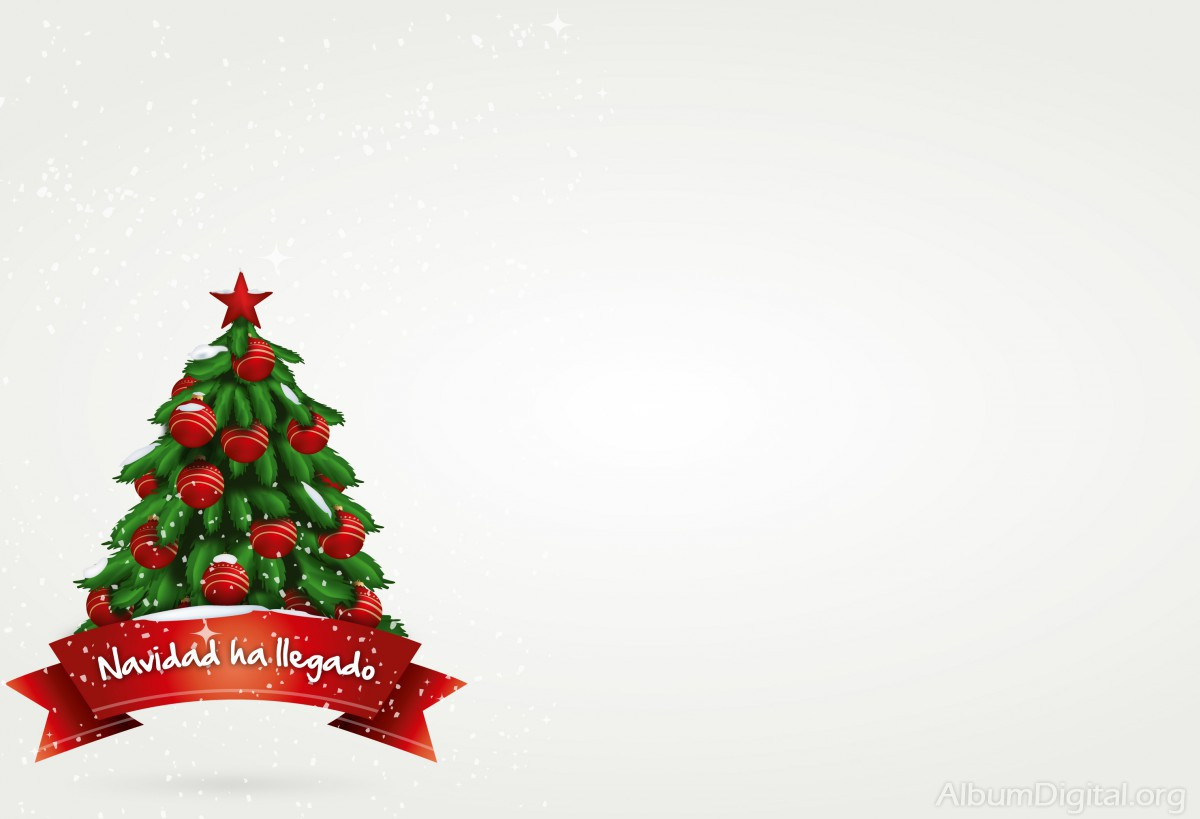 Fondo De Navidad Para Fotos: La Navidad Ha Llegado. Fondo Para álbum Hofman Classic