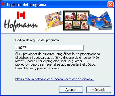 Codigo de registro del programa Hofmann