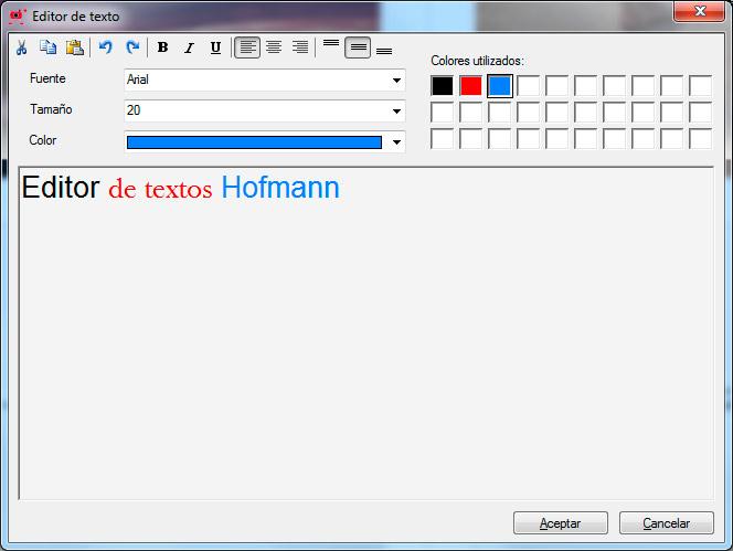 Editor de texto Hofmann