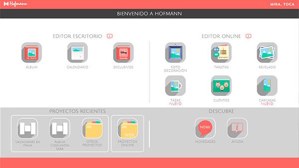 Pantalla de bienvenida Hofmann en Windows 10